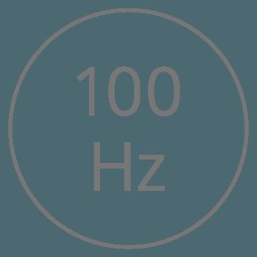 Level I — 100 vibrations per second (Hertz)