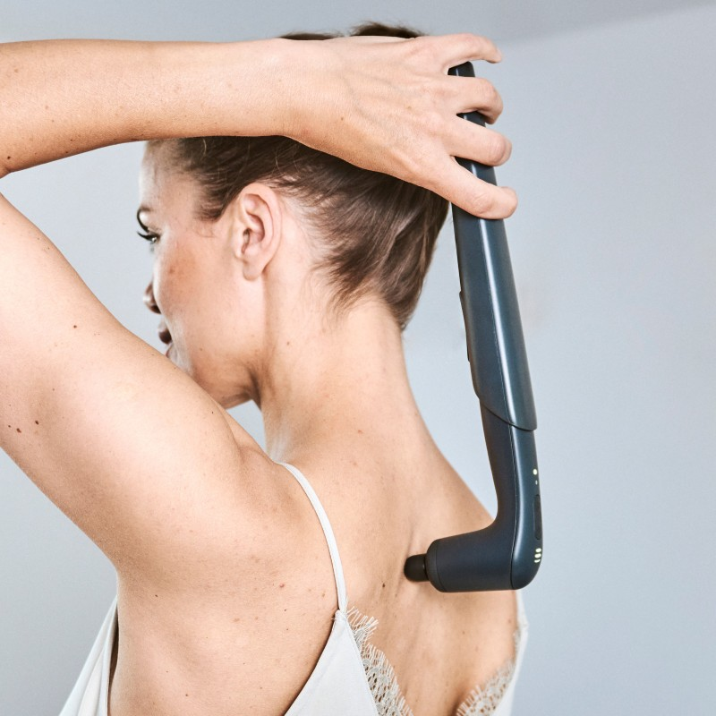Verlängerungsgriff: Anwendung am Rücken