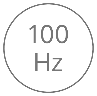 Level 1 — 100 vibrations per second (Hertz)