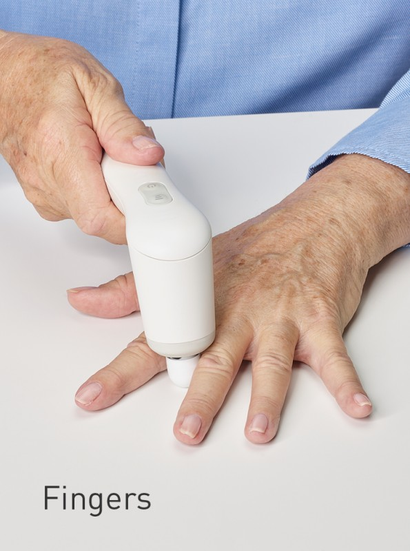 Treatment of the fingers with NOVAFON