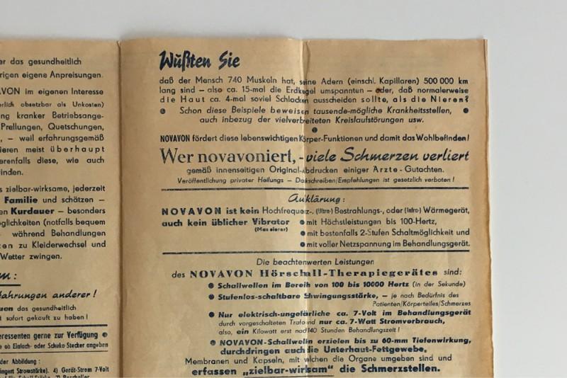 Gründung NOVAFON alte Broschüre